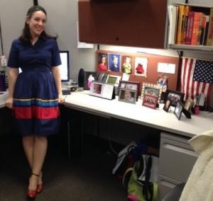 Jess at desk