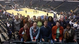 Class of 2015 enjoying an Pacers game!