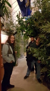 Kajsa, Matt, and Stewart experiencing the Vietnam exhibit at the War Museum.